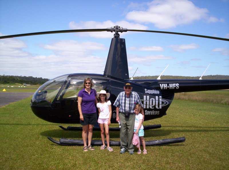 the helicopter with Diane Kate Jack and Laura