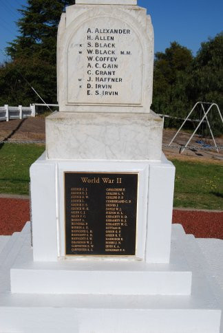 Bemboka War Memorial Right Hand Side